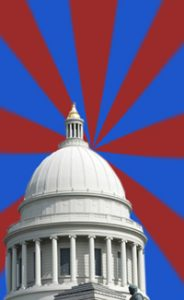 Arkansas Capitol sunburst