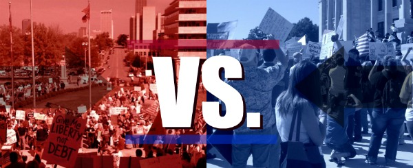 Tea Party Vs. Occupy Arkansas