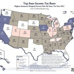 Tax foundation state income tax map