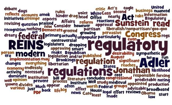 REINS Act wordcloud