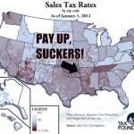 Nationwide sales tax map