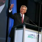 Governor Beebe speaking to the American Wind Energy Association. Photo courtesy of Morris News Service/ Walter C. Jones