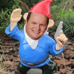 Rep. Bell, the Gnome of Mena, wielding his fully automatic Glock assault rifle.