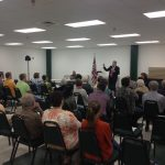 Ed Haislmaier speaking to a packed house at AAI's Conway forum last night.