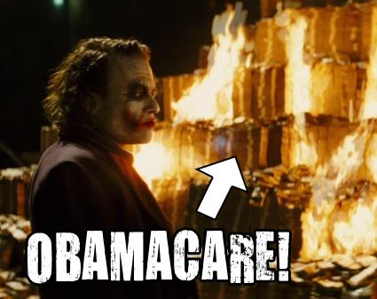 obamacare burning