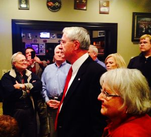 John Cooper and his wife Sue thank supporters after last night's victory.
