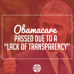 Obamacare (Lack of Transparency)