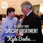 About That Special Treatment for Kyle Beebe