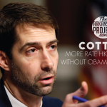 Cotton: More Rate Hikes Coming Without O'Care Repeal