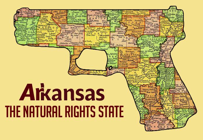 A new map of Arkansas.